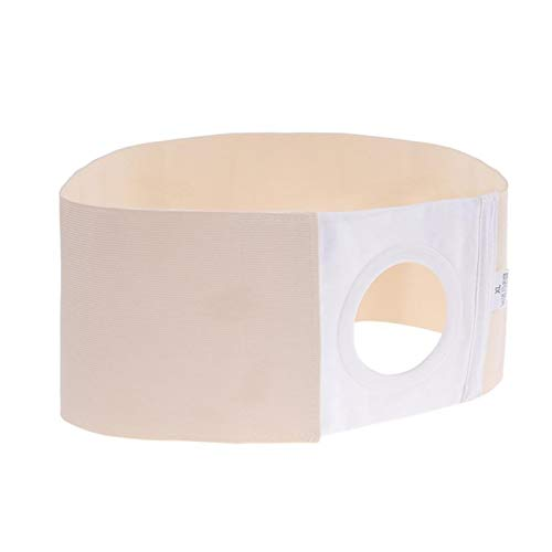 XSRJ Back Support 3 Sizes Ostomy Hernia Support with Abdominal Adhesive Support Bracket (Size : Large)