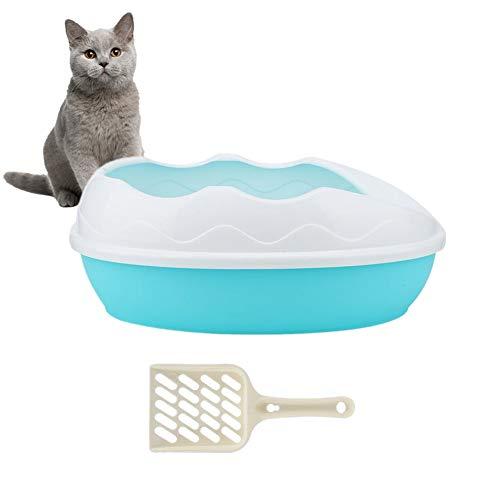 Vaschetta per lettiera per Animali Domestici Semi-Chiusa Vassoio in plastica Resistente agli Schizzi Vaschetta Rimovibile vasino con Pala Rimovibile Senza residui(#2)