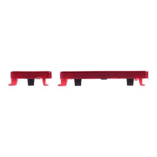 Kit de teclas externas laterales con botón de encendido y apagado + botón de control de volumen lateral compatible con Xiaomi Redmi Note 7/Note 7 Pro (rojo)