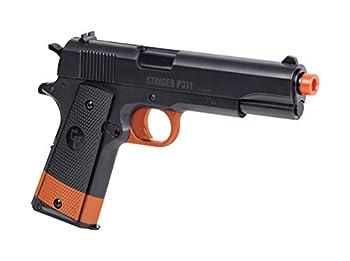 Crosman ASP311B-CA Stinger P311  California Compliant  Spring Powered Single Shot Military Style Pistol