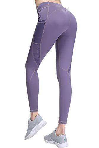 SANMIO Leggings Deportivos de Yoga para Mujeres, Pantalones de Yoga para Mujeres con Bolsillos Pantalones Deportivos Maravillosos Pantalones Deportivos Ultrasport para Mujer