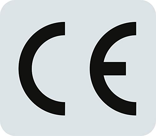 Stickers CE-markering voor CE-markering 1,3 x 1,5 cm folie, vel = 10 stuks