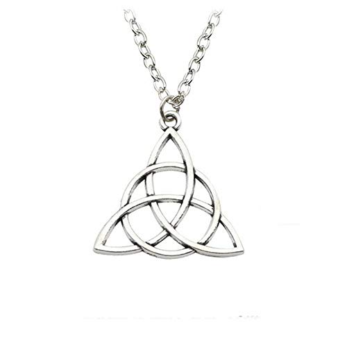 Silver Celtic Knot Triquetra Pendant Necklace // Alternative // Pagan // Charmed