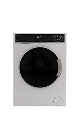 Sharp ES-HFB714AW3-EN Freestanding Washing Machine with Advanced Inverter Motor and Allergy Smart mode, 7kg Load, 1400rpm Spin, White