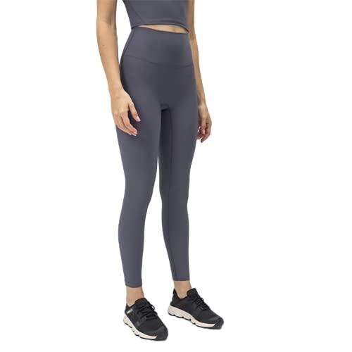 QTJY Pantalones de Yoga para Mujeres de Color Puro, Cintura Alta, Medias de Cadera, Pantalones para Correr de Fitness elásticos al Aire Libre y de Secado rápido FL