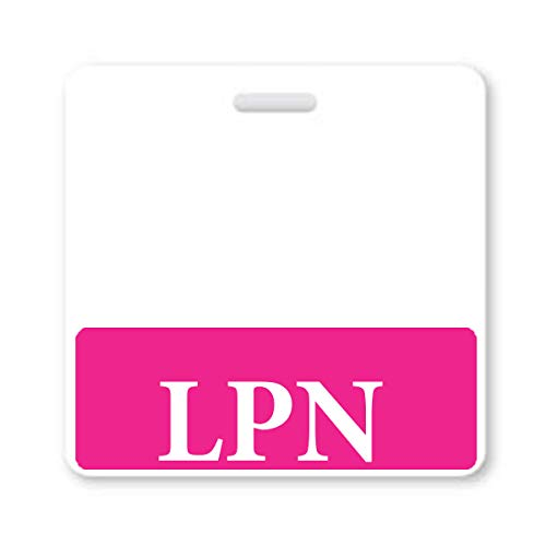 LPN Badge Buddy - Heavy Duty Horizontal Badge Buddies for Licensed Practical Nurses - Spill & Tear Proof Cards - 2 Sided USA Printed Quick Role Identifier ID Tag Backer by Specialist ID