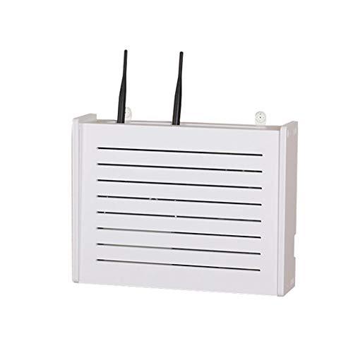 Storage Boxes Lochfreier WLAN-Router Aufbewahrungsbox WiFi-Rack Wanddekoration dekorative Box Rack kreative weiße dekorative schwimmende Rack