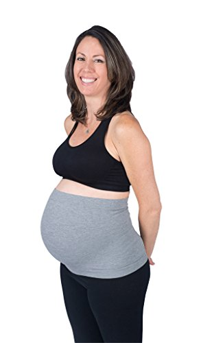 Maternity Band/Maternity Belly Band, Pregnancy Support Band (Gray, 22-26 (XX-L))