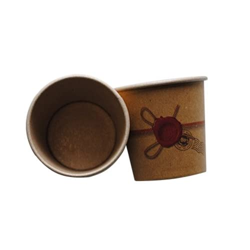 IMBALLAGGI ALIMENTARI 8022825941797 PZ 200 Bicchiere CL 10 di Carta X Caldo Kraft Avana per Caffe' Paper Cup Coffee And Hot Drinks