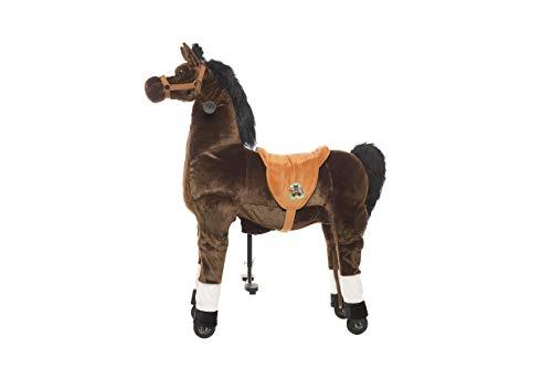 Animal riding ZRP002M Reitpferd Amadeus (für Kinder ab 5 Jahren, Sattelhöhe 69 cm, mit Rollen) ARP002M, Braun, M/L - 2