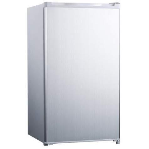 Frigorífico Top 48 cm, 93 L, clase A+, color plateado, 41 dB, compartimento para hielo, 10 L