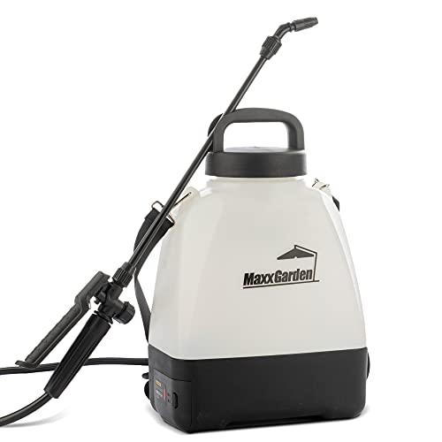 MaxxGarden - Spruzzatore a pressione per il giardino (6 litri) - Flacone spray a batteria per piante con tracolla -...