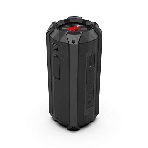 Monster Drift Waterproof Bluetooth Speaker, 20 Watts, Sync 2 EZ-Sync Speakers, Up to 12 Hours of Playtime, Speakerphone, IPX7 Waterproof, RGB LED Lights