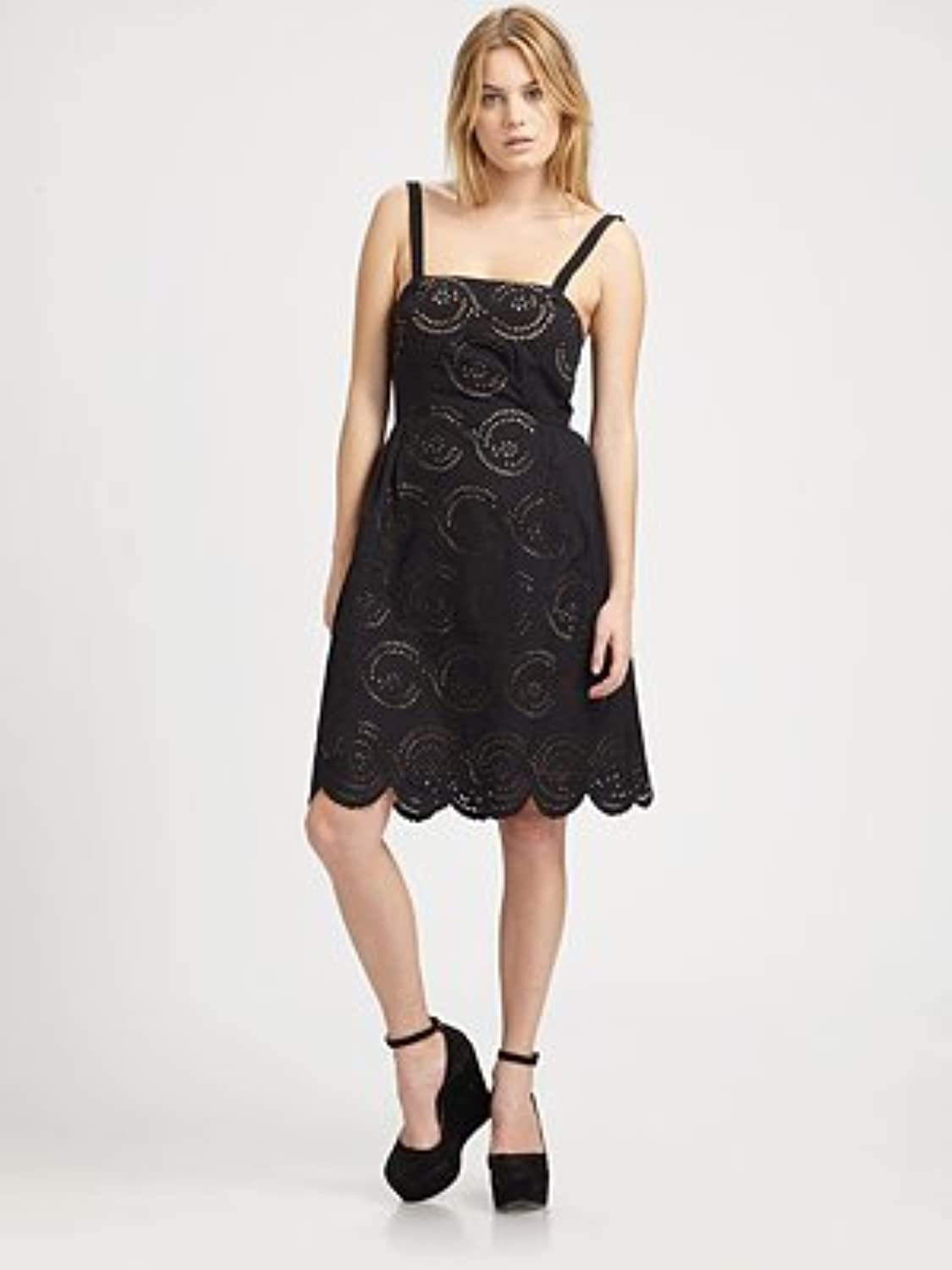 Marc by Marc Jacobs Palmetto Strapless Eyelet Dress  Black