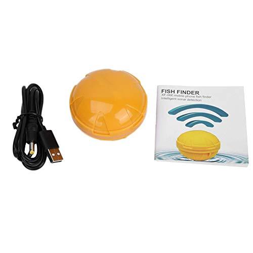 Alomejor Fischfinder Wireless Fishing Sonar Sensor Fischdetektor Tiefenmesser mit Bluetooth Funktion