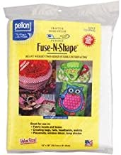 Pellon Interfacing Bulk Buy (3-Pack) Fuse N Shape Heavyweight Fusible Interfacing White 15 inch x 36 inch 731PKG
