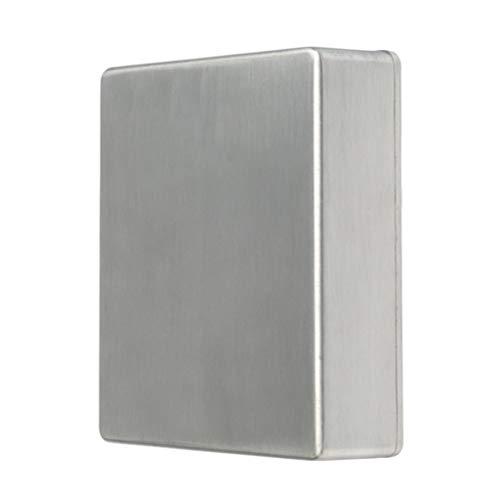 Generic 1590BB Caja de Pedal de Pedal de Aluminio Plateada para Piezas de Pedal de Guitarra Eléctrica