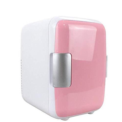 CCAN Mini Nevera 4L Refrigeradores compactos, 12V 220V Sistema termoeléctrico portátil para Dormitorio/Oficina/Dormitorio/Coche, 24x17,5x23cm Happy Life