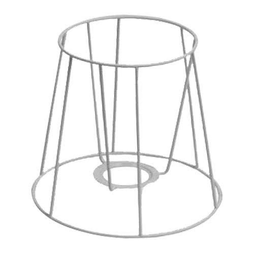 SMITS Lampenschirmgestell, weiß plastifiziert, Ø o. 12,5cm, Ø u. 17,5cm, h 15cm