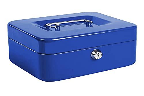 Kippen 10033B4 - Caja de caudales azul, medidas: 300 x 240 x 90 mm
