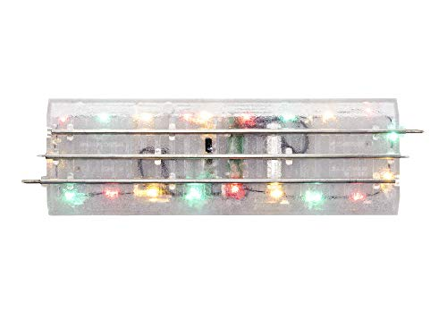"""Lionel Lighted FasTrack Electric O Gauge, 10"""" Straight Track, Pack of 4"""