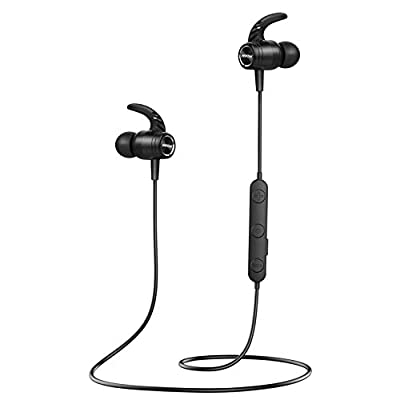 Bluetooth 5.0 Headphones, Mpow S10 Wireless Sports Headphones IPX7 Waterproof, 14H Playtime Earbuds, Magnetic In Ear Wireless Earphones, HD Stereo Sound with cVc 8.0 Noise Reduction Mic for Gym Work by Mpow