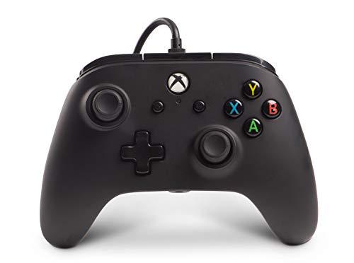 PowerA Manette filaire sous licence officielle de Microsoft et compatible avec Xbox Onexbox One Sxbox One X et Windows 10 - Noir