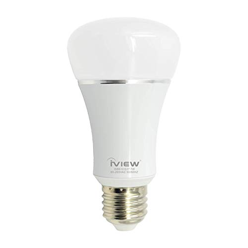 IVIEW-ISB610 WiFi Smart LED Light Bulb, Multi-color, Dimmable, No Hub Required, Free APP Remote Control, Compatible with Amazon Alexa & Google Assistant