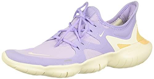 Nike Wmns Nike Free Rn 5.0, Women's Trail Running Shoes, Multicolour (Purple Agate/Pale Ivory-Celestial Gold 500), 4 UK (37.5 EU)