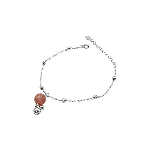 THTHT S 925 sterling zilveren armband mode vrouwen eenvoudige bel aardbei kristal retro temperament sieraden creatief lief persoonlijkheid verjaardagscadeau