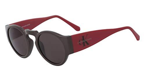 Calvin Klein Jeans CKJ18500S Injected Sonnenbrille Dark Brown Unisex Erwachsene Mehrfarbig, Standard