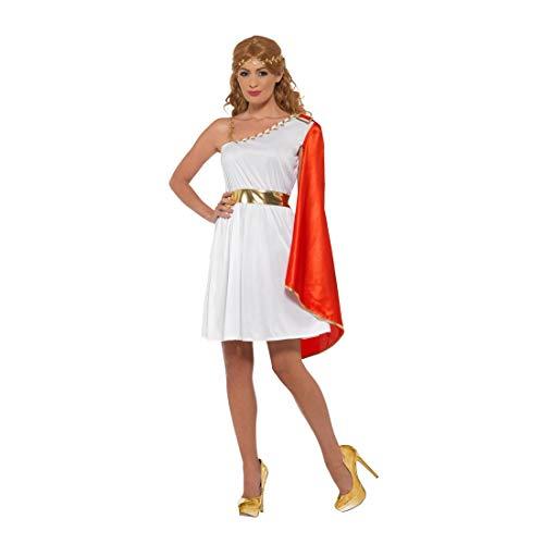 Amakando Römer-Kostüm für Damen / Weiß-Rot in Größe M (38/40) / Kleid Griechische Göttin / EIN Blickfang zu Fasching & Karneval