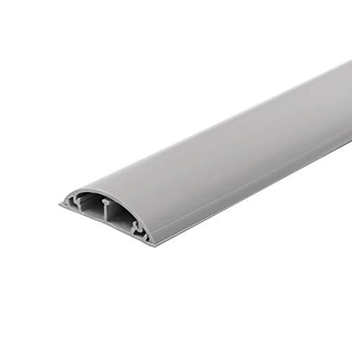 Electraline P0036019921943 60776 Tubo Copricavi | Canalina Passacavi Pavimento | 50 x 12 mm-1 m Lunghezza, Colore Grigio