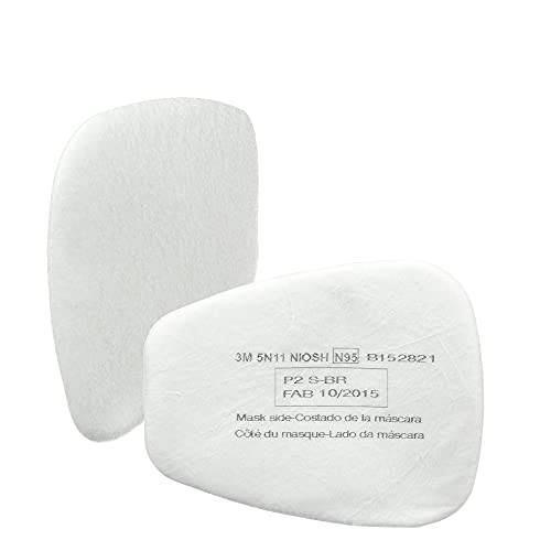 3M N95 Respirator Filter, 5N11, Disposable, Helps Protect Against Non-Oil Based Particulates, Use With 3M 5000 Series Respirators or 6000 Series Gas and Vapor Cartridges, 10 Pack