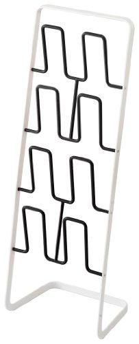 山崎実業 スリッパラック ブラック 約W22×D15.5×H61cm プレート 6095