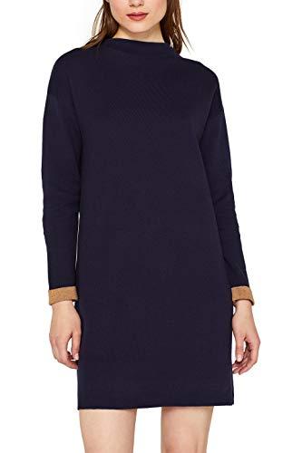 ESPRIT Damen 099EE1E007 Kleid, Blau (Navy 400), Medium (Herstellergröße: M)
