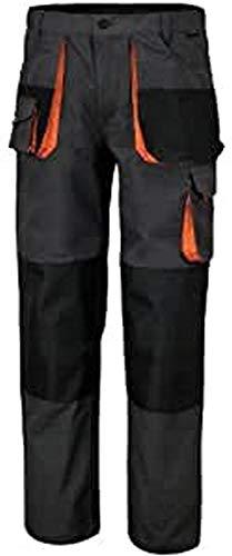 Beta 7860E S - Pantaloni leggeri da lavoro multitasche, tessuto in poliestere e cotone. Ampie tasche anteriori con chiusura a strappo, tasca porta metro e nastro porta martello - Grigio
