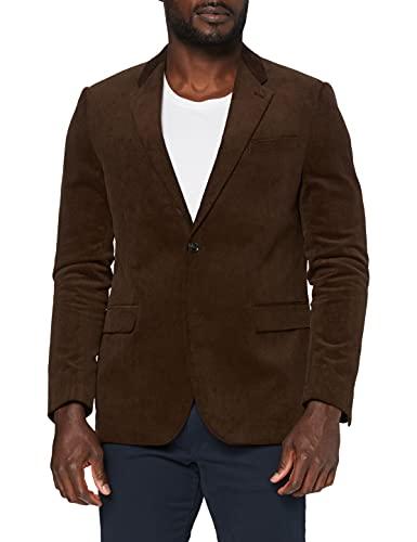 Marchio Amazon - find. Blazer Casual in Velluto a Coste Uomo, Marrone (BROWN), 46, Label: 36