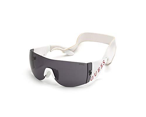 Guess GU-7662-S 21A - Gafas de Sol, Color Blanco y Gris