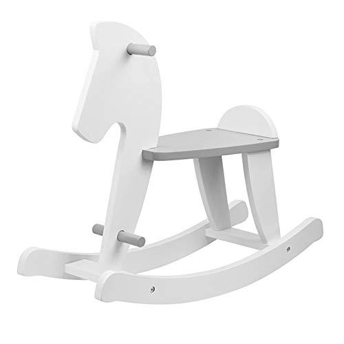 Puck Daddy caballo balancín en color blanco/gris