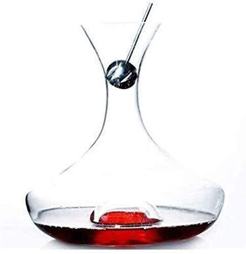 DECANTER semplicità Decantatore di Vetro di Whisky 750ml Bicchiere di Vino del Cocktail Decantatore di Vetro 1500ml Dispenser Veloce di Cristallo Brandy Carafe Home CHENGYI (Color : Default)