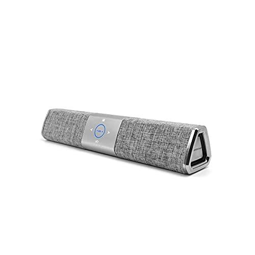 Altavoz Bluetooth, altavoces portátiles de Bluetooth, Woofer rico, estéreo en voz alta.Adecuado para reuniones familiares y viajes al aire libre. mei (Color : Silvergray)