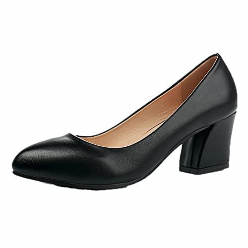Zapatos de tacón Alto para Mujer Primavera Otoño Zapatos de Vestir de...