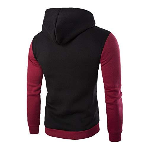 PRJN Men's Hoodies Cotton Diagonal Zipper Hoodies fashion Casual Contrast Sweatshirt Men's Hoodie Diagonal Zipper Design Long Sleeve Hoodie Casual Hoodie Outdoor Sweatshirt Men's casual sports hoodie