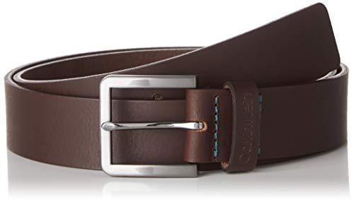 Calvin Klein Herren 35mm Essential Plus Belt Gürtel, Braun (Dark Brown Gue), 100 (Herstellergröße: 110)