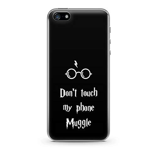 Finoo Handyhülle kompatibel für iPhone 5 / 5S / SE - Hülle mit Motiv und Optimalen Schutz TPU Silikon Tasche Case Cover Schutzhülle - Dont Touch My Phone Muggle