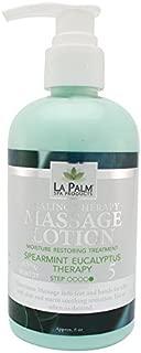 La Palm Organic Massage Lotion - Spearmint Eucalyptus