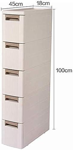 CCF Badezimmer-Regal-Landungs-Badezimmer-Aufbewahrungsbeh er-Sandwich-Speicher WC-Toiletten-Seitenschrank-Seitenschrank CCFSF (Größe   45  18  10cm  )