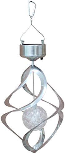WENJZJ - Lámpara Solar con Forma de Molino de Viento, luz Multicolor al Aire Libre, Resistente al Agua, luz LED, para jardín, césped, balcón, Puerta, Ventana, decoración, lámpara Plateada