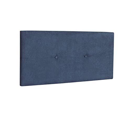 DHOME Cabecero de Polipiel o Tela AQUALINE Pro cabeceros Cabezal tapizado Cama Lujo (Tela Azul, 110cm (Camas 80/90/105))